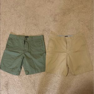 2 pairs of size 33 j crew factory shorts
